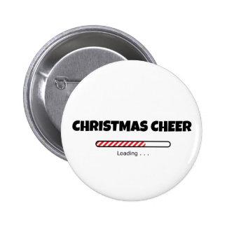 Alegría del navidad - barra del progreso - cargame pin redondo de 2 pulgadas