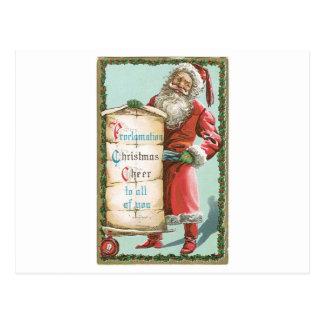 Alegría del navidad de la proclamación a usted tarjeta postal