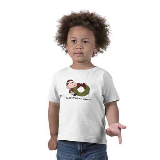 Alegría del navidad de la vaca camiseta