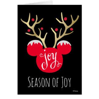 Alegría del navidad de Mickey y de los amigos el   Tarjeta De Felicitación