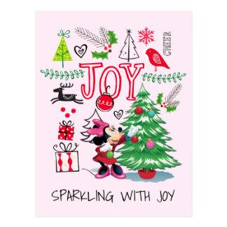 Alegría del navidad de Minnie Mouse el   Minnie Postales
