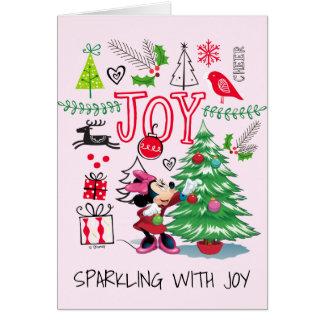 Alegría del navidad de Minnie Mouse el   Minnie Tarjeta De Felicitación
