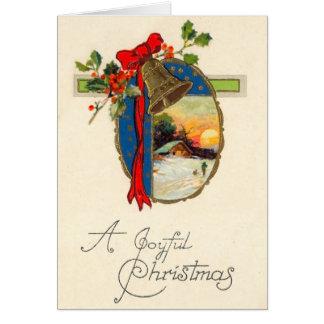 Alegría del navidad del vintage felicitación