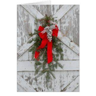 Alegría del navidad en la granja tarjeta de felicitación