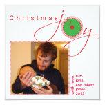 Alegría del navidad invitación 13,3 cm x 13,3cm