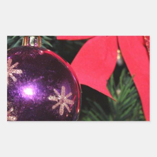 Alegría del navidad pegatina rectangular