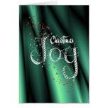 Alegría del navidad tarjeta