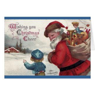 Alegría del navidad tarjeta de felicitación