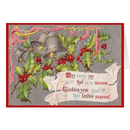 Alegría del navidad tarjeta pequeña