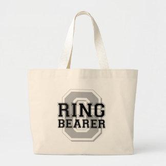 Alegría del novio del portador de anillo bolsa tela grande