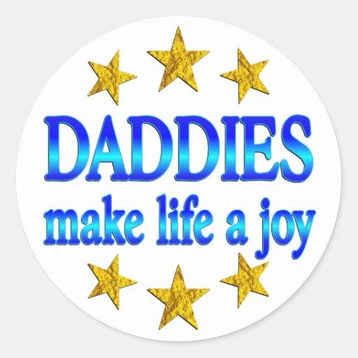 Alegría del papá etiqueta redonda
