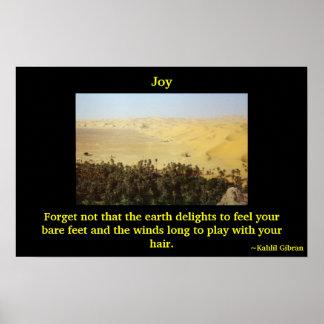 Alegría del poster de la tierra