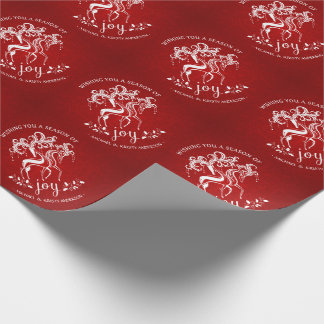 Alegría del reno del navidad - el embalaje de papel de regalo