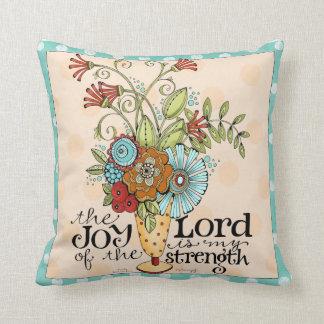 Alegría del señor - ramo floral - almohada de tiro cojín decorativo