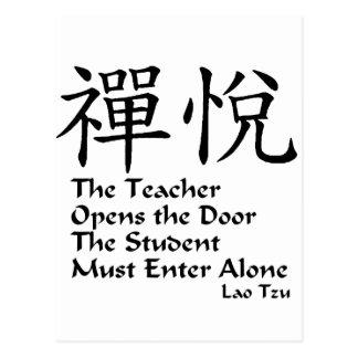 Alegría del zen - el profesor tarjetas postales