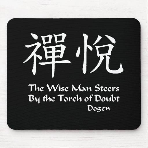Alegría del zen, hombre sabio alfombrillas de raton