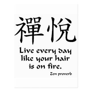 Alegría del zen - vive cada día postal