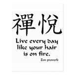 Alegría del zen - vive cada día tarjetas postales
