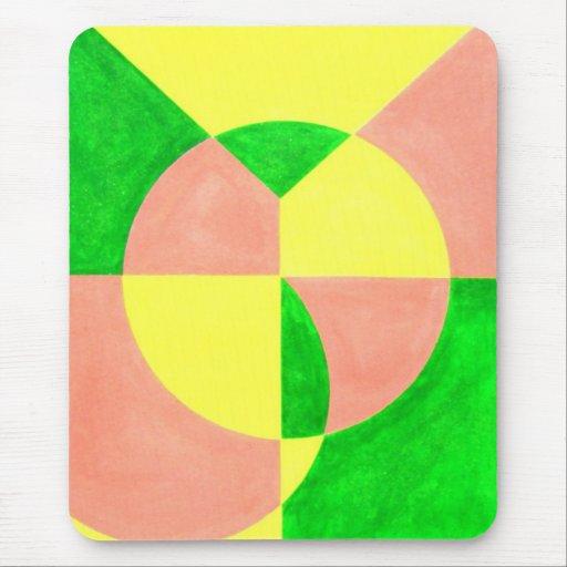 ALEGRÍA en arte abstracto Tapetes De Raton