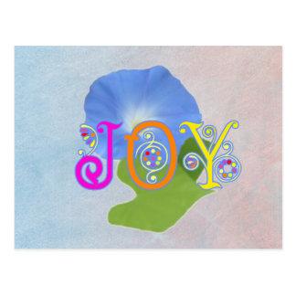 Alegría en colores pastel de la correhuela tarjeta postal