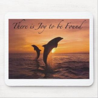 alegría en el mundo de delfínes tapetes de ratón