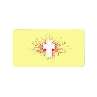 ¡ALEGRÍA! en la cruz Etiquetas De Dirección
