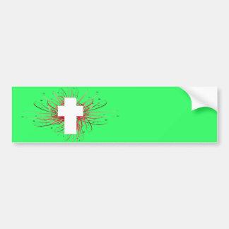 ¡ALEGRÍA! en la cruz Pegatina De Parachoque