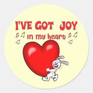 Alegría en mi corazón pegatina redonda