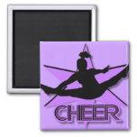 Alegría en púrpura iman para frigorífico