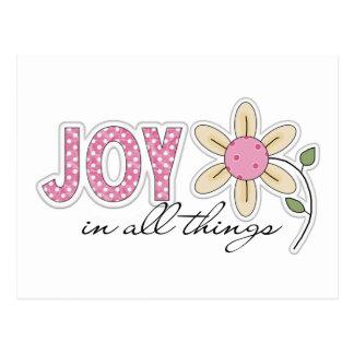 Alegría en todas las cosas postales