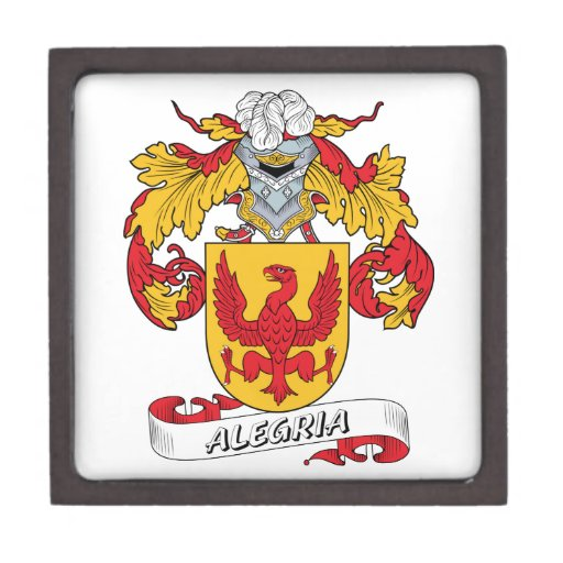 Alegria Family Crest Premium Keepsake Box