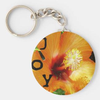 Alegría - Hybiscus anaranjado Llavero Personalizado