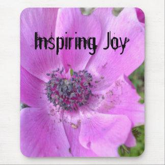 Alegría inspiradora mouse pads