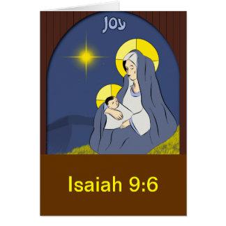 Alegría, Isaías 9v6 Tarjeta De Felicitación