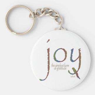 """""""Alegría… la forma más simple de gratitud """" Llaveros Personalizados"""