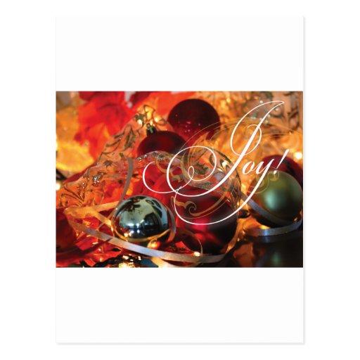¡ALEGRÍA magnífica de la tarjeta de Navidad! Tarjeta Postal