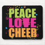 Alegría Mousepad del amor de la paz Tapete De Raton
