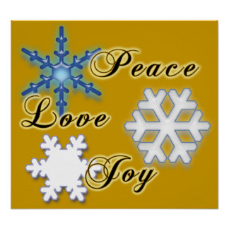 Alegría No-Confesional del amor de la paz Posters