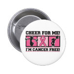 Alegría para mí soy cáncer libre - cáncer de pecho pin