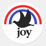 Alegría patriótica etiquetas redondas