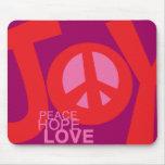 Alegría, paz, esperanza y, cojín de ratón del amor tapete de raton