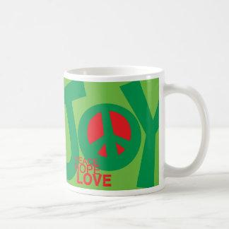 Alegría, paz, esperanza y, taza del amor