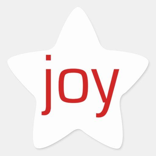 Alegría Calcomanías Forma De Estrella Personalizadas