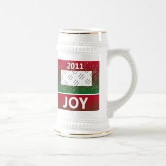 Alegría personalizada de la nieve del navidad de l tazas de café
