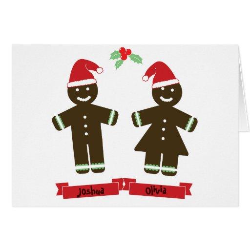 Alegría personalizada de la tarjeta de Navidad de