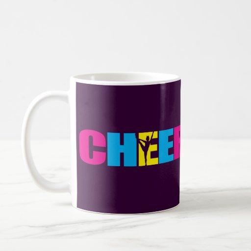 Alegría personalizada que anima púrpura taza