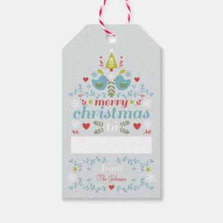 Alegría popular del navidad etiquetas para regalos