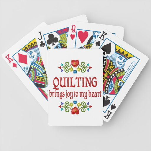 Alegría que acolcha baraja cartas de poker