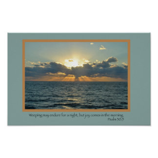 Alegría (salmo 30: 5) posters