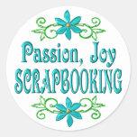 Alegría Scrapbooking de la pasión Etiqueta Redonda